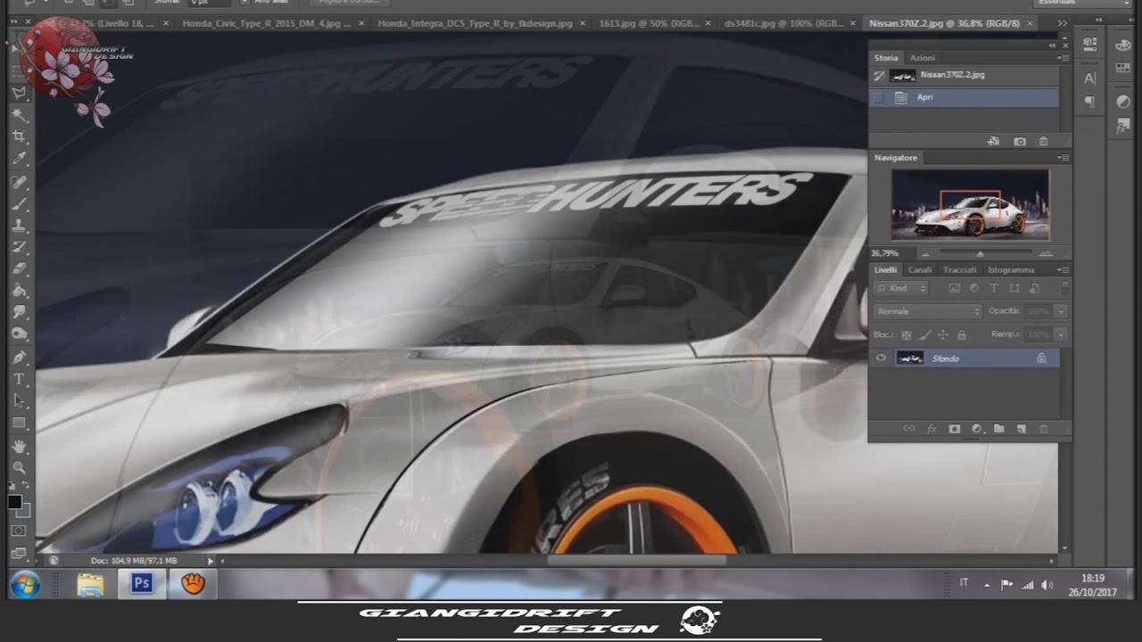 Honda S660 Mugen Rocket Bunny Virtual Tuning Photoshop Youtube