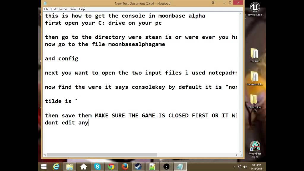 how to moonbase alpha console