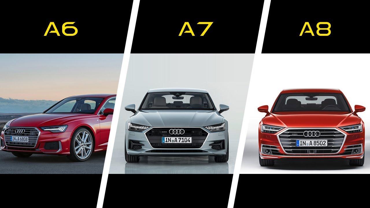 2019 Audi A6 Vs 2018 Audi A7 Vs 2018 Audi A8