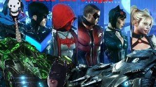 Batman Arkham Knight Todos Los Batimovil Y Trajes De Personajes Secundarios