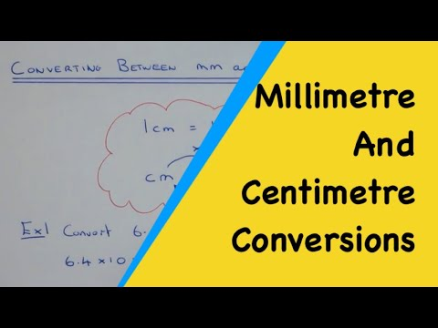 How To Convert Number Given In Millimetres Back Into Centimetres And Cm Into Mm