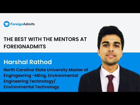 Mentor- Harshal Rathod || NC State University || MS in Environmental Technology || US