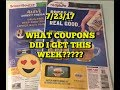7/23/17 COUPON INSERTS | WHAT COUPONS DID I GET???