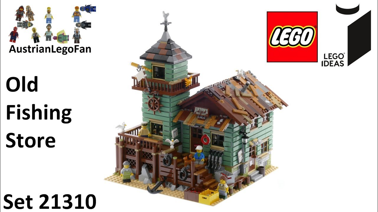 Lego ideas 21310 old fishing store lego speed build for Lego old fishing store