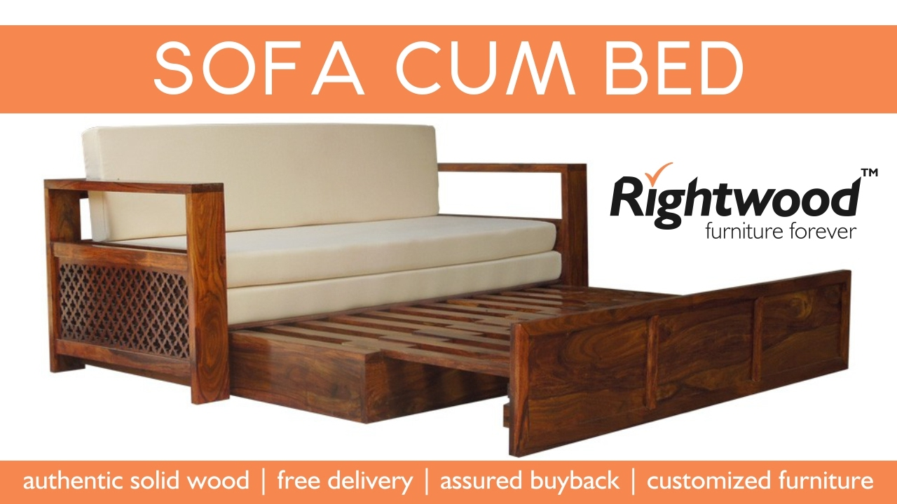 Sofa Cum bed wooden new design 2017 Rightwood furniture YouTube