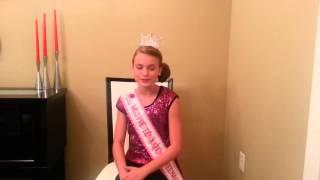 Audrey Eckert ~ Miss Preteen National Teenager 2014 Video Update #1
