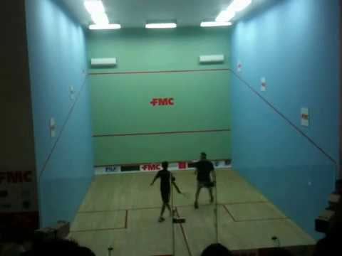 Jonathan Power playing at Punjab Squash Complex - September 2012