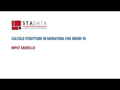Calcolo strutture in muratura con 3Muri 10 - Input modello