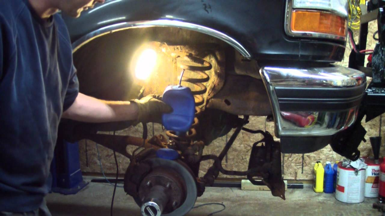 Coil Spring Type Air Bag Install On A Snow Plow Truck