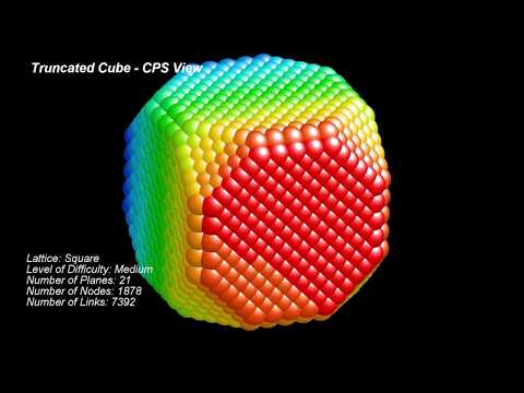 Platonic Structures Series  - 21. Archimedean Solids - Truncated Cube from Spheres