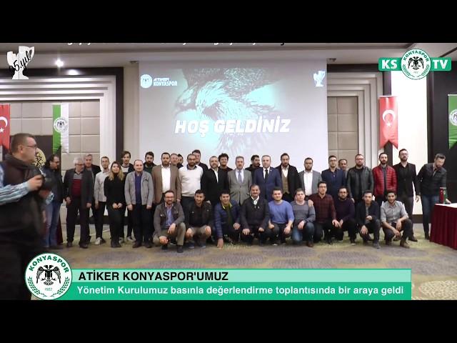 Yönetim Kurulumuz Konya'daki basın mensuplarıyla değerlendirme toplantısı yaptı