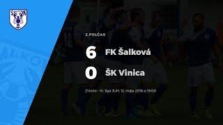 2. polčas, FK Šalková - ŠK Vinica, 12.5.2017 o 19:00