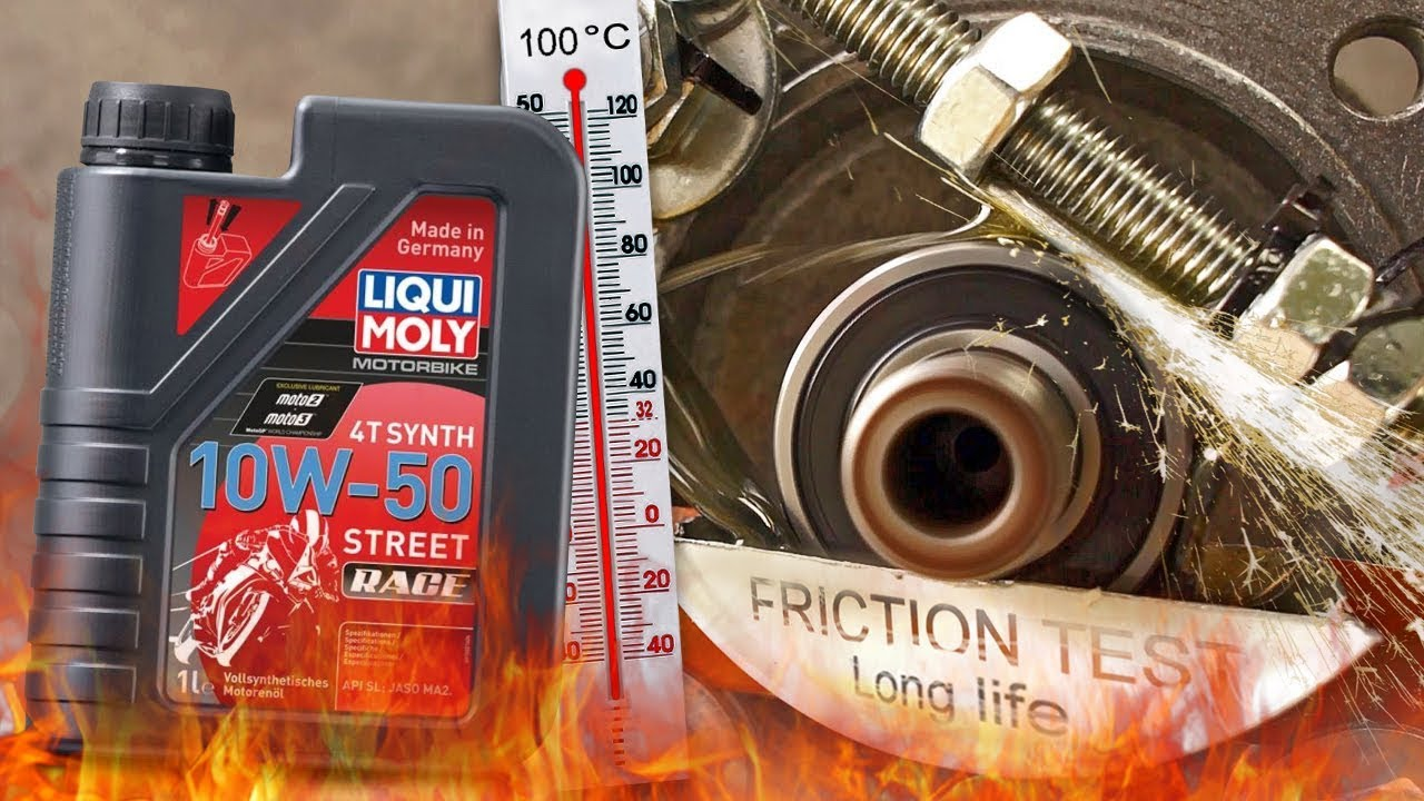 Liqui Moly Street Race 4T 10W50 How well the engine oil protect the engine?  100°C