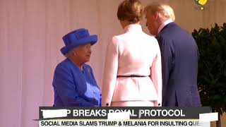 Donald Trump and Melania disrespected royal protocol while meeting Queen Elizabeth
