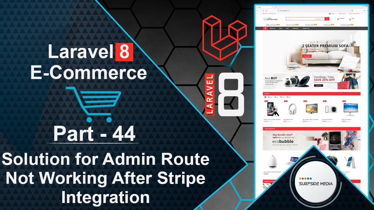 Laravel 8 E-Commerce - Solution for Admin Route Not Working After Stripe Integration