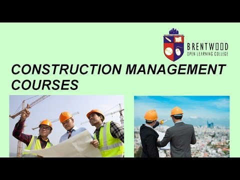 Accredited, flexible and affordable construction management courses