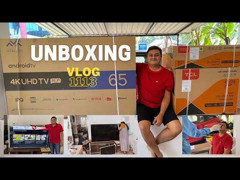 Unboxing 65 Inch 4K UHD TV – ഒരു ഫാമിലി Unboxing Vlog