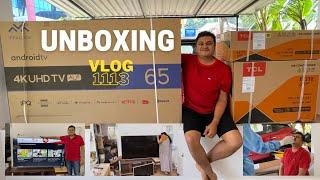 Unboxing 65 Inch 4K UHD TV - ഒരു ഫാമിലി Unboxing Vlog