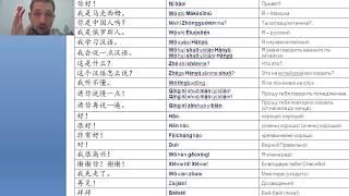 Фразы на китайском №1 (#ПростоКитайский)