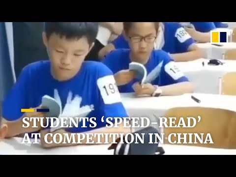 Students 'speed-read' at