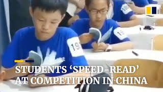Students 'speed-read' at competition in China