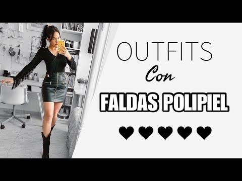 LOOKS CON FALDAS DE POLIPIEL