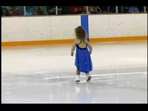 Three yr old ice skating competition
