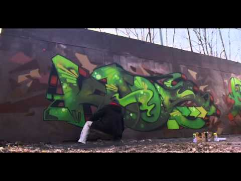 Kaos (Sweden) & Ogre (France) From MOAS (Monsters Of Art) Painting A Wall