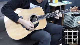 She Got The Best Of Me - Luke Combs Guitar Cover for Beginner Stroke by [Musicdrawing]