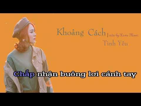 [KARAOKE] Khoảng Cách Tình Yêu - Junki Trần Hòa | Beat Chuẩn || Video Karaoke HD