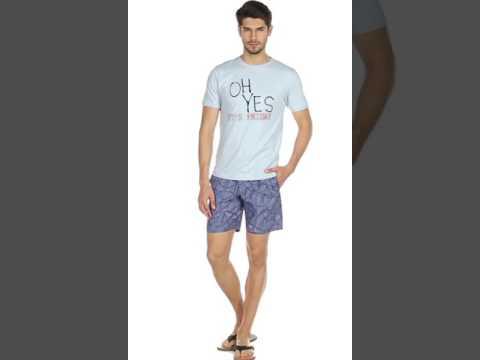 Bodybasics by Westside Blue Printed Shorts