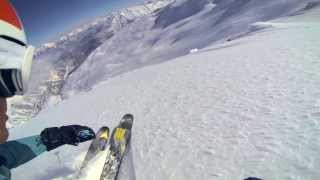 Solo Skiing - Austrian Alps, GoPro Hero 3 Black Edition