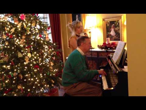 Jessica Byers sings The Christmas Song, accompanied by Jeff Byers