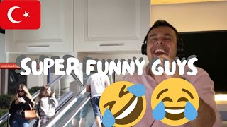 Italian Reaction To Pt2 Turkish Youtube Channel - THE BOSS - Super Funny Guys 😂😂😂