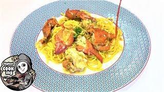自家製パスタのオマール海老ソース Pasta with lobster source【ラファエルクッキング Raphael cooking】