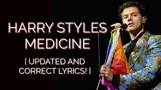 MEDICINE HARRY STYLES LYRIC VIDEO! 🏳️‍🌈 [UPDATED AND CORRECT]