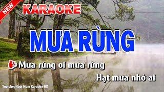 Karaoke Mưa Rừng - mua rung karaoke nhac song