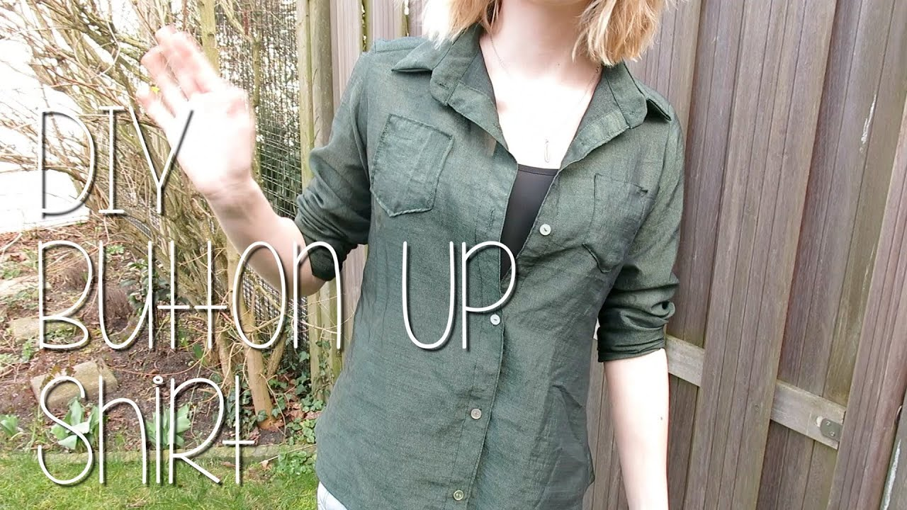 diy button up shirt youtube