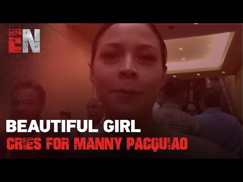 Beautiful Mexican Girl Cries For Manny Pacquiao  EsNews Boxing