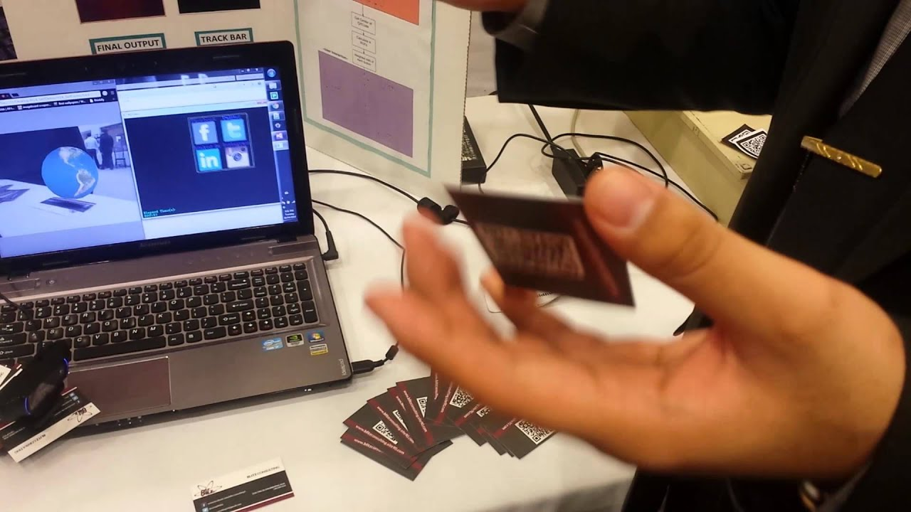 augmented reality business cards youtube