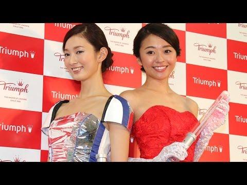 世相反映ブラは「ヒロイン戦士ブラ」ドレスにも変身! #Triumph International Japan