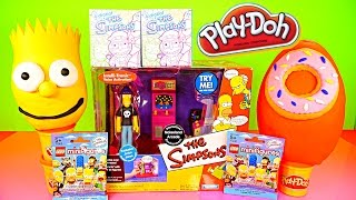 play doh simpsons bart homer donut surprise eggs noiseland arcade playset lego toys playdough dctc