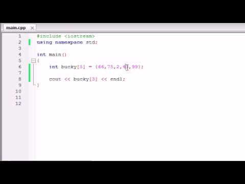 Buckys C++ Programming Tutorials - 32 - Arrays