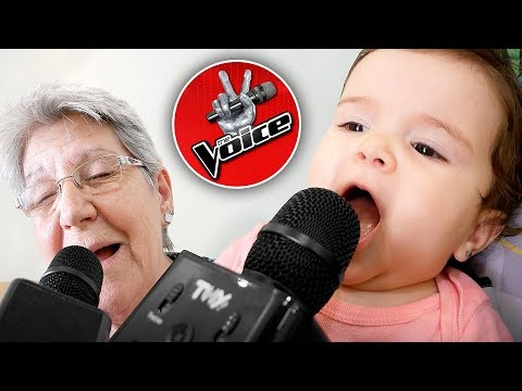 MICROFONE THE VOICE DE BRINQUEDO NA CASA DA VOVÓ!! Karaoke Microphone for Kids - The Voice La Voz