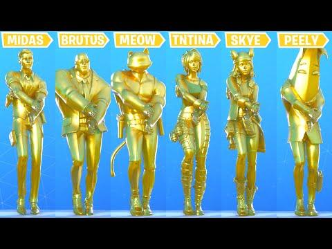 Fortnite Dance Battle Of All Golden Skins