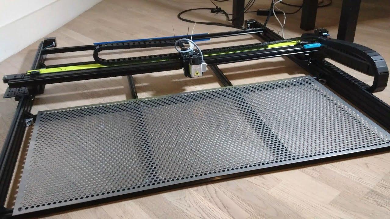 Diy Large Format 6w Laser Engraver Rapid Test Youtube