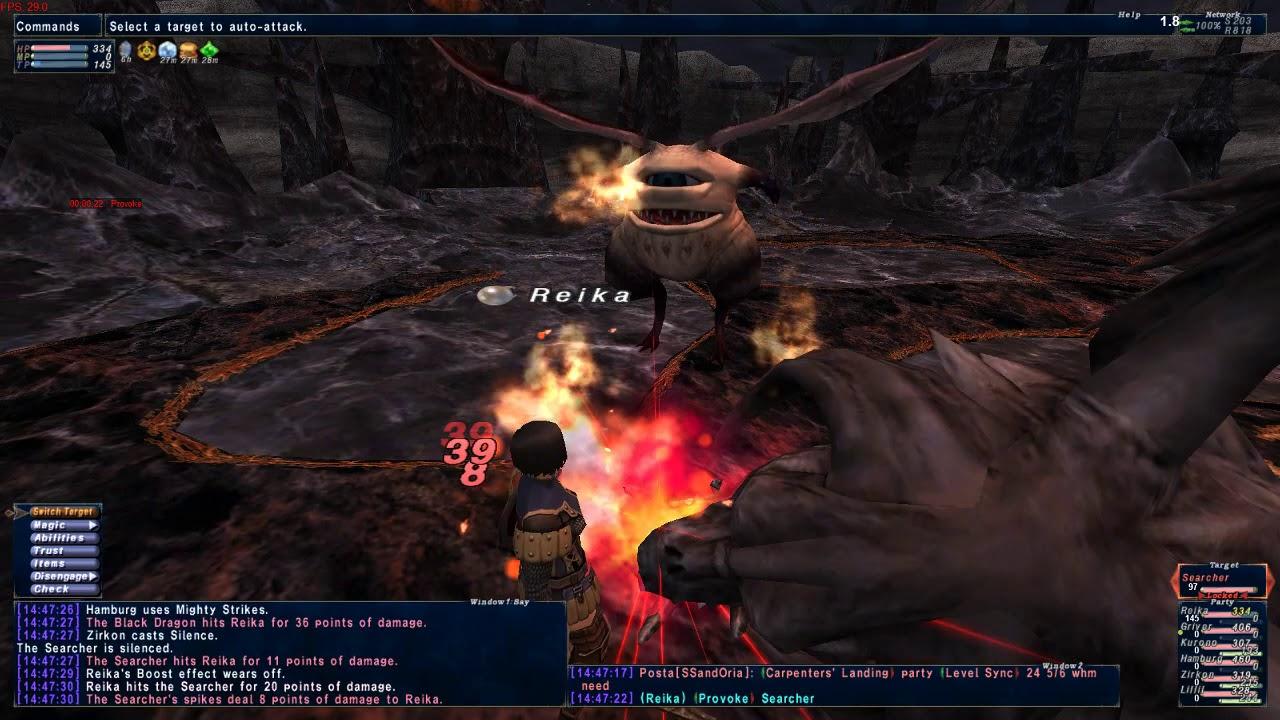 FFXI Eden Server: San D'oria mission 2 - 3 Black Dragon