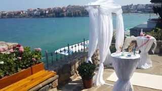 Свадебная церемония на море в Болгарии в Созополе