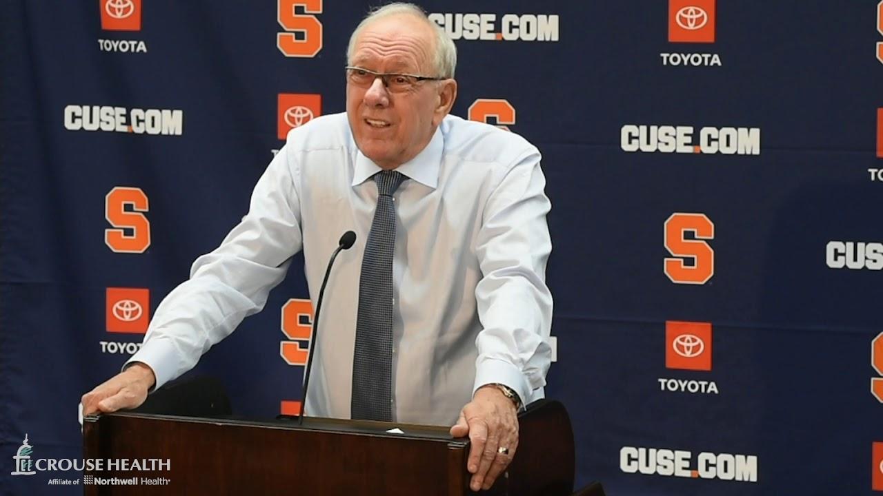 Jim Boeheim Postgame News Conference After Syracuse Basketball Exhibition Vs Daemen 2019