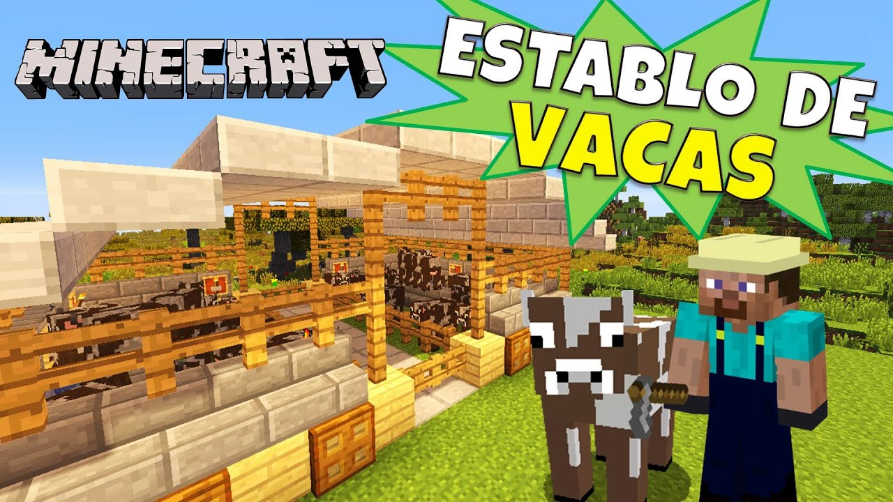 Minecraft establo para vacas super tutorial for Casa moderna rey zerch